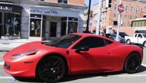 Justin Bieber - Ferrari 458 Italia Vermelha